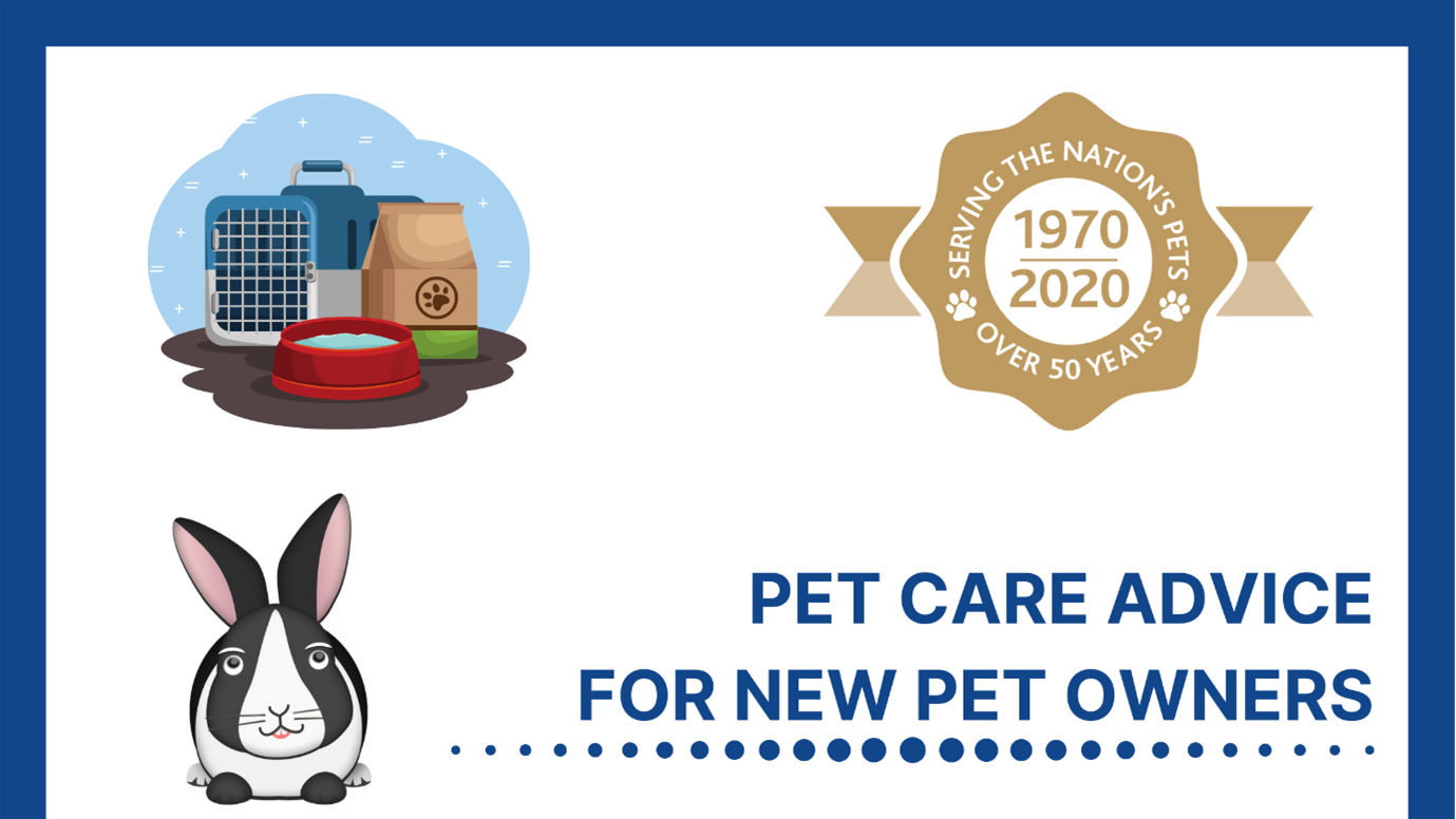 Pet care advice for new pet owners