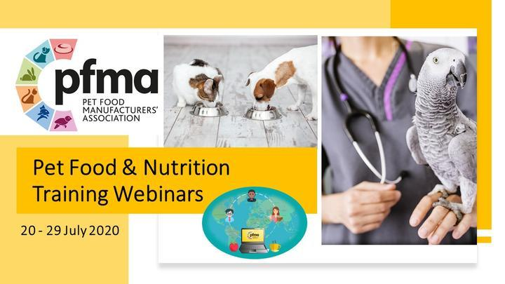 PFMA's Popular Pet Food & Nutrition Training Webinars Have Returned This October Offering Discounts to Pet Professionals